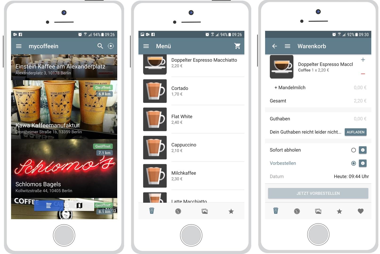 mycoffein app