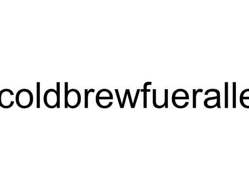 Markenschutz ® auf Cold Brew ?!?