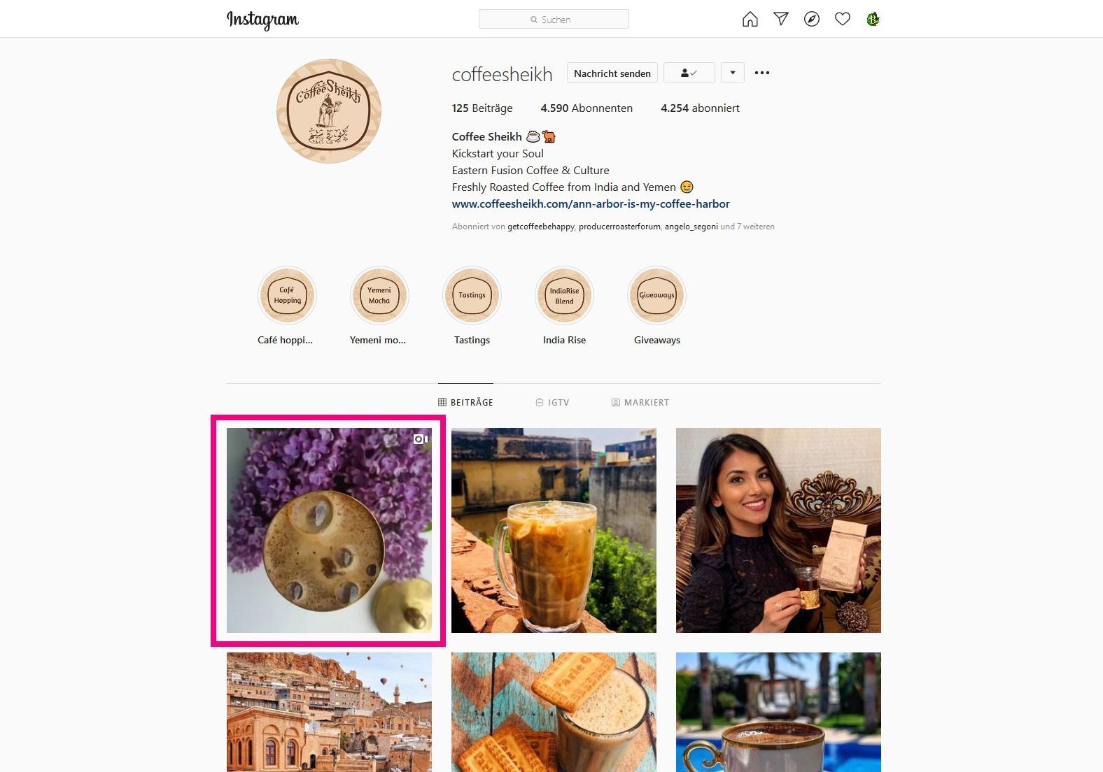 Bunaa - Coffee Sheikh Instagram