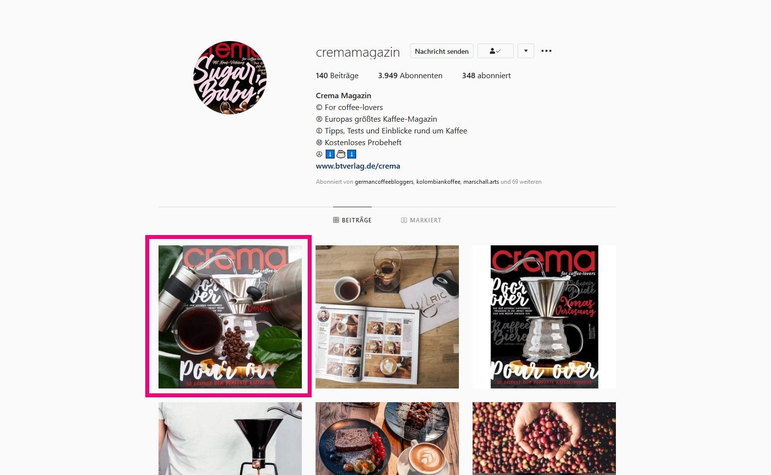 Bunaa - Crema Magazin Instagram