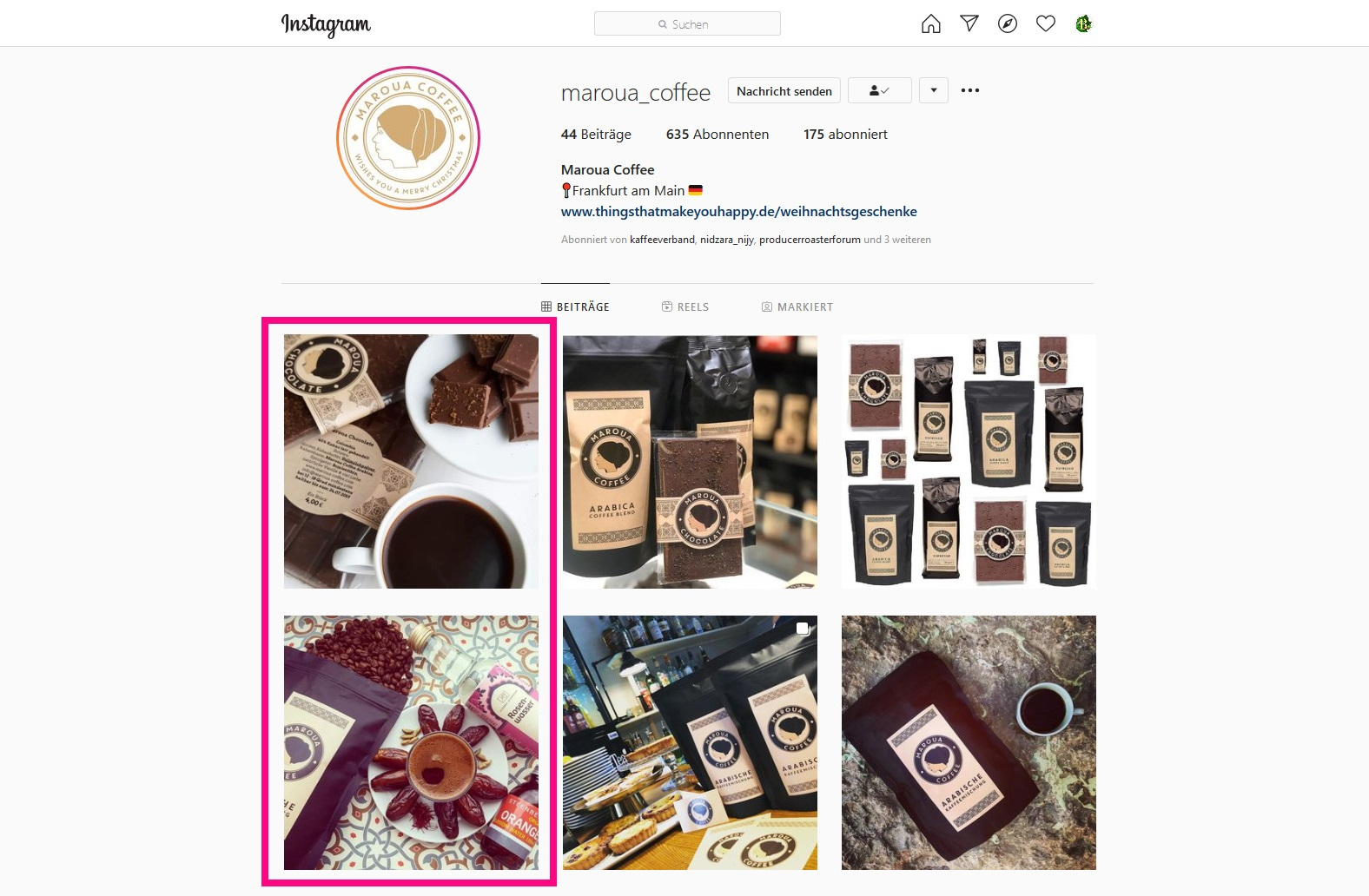 Bunaa - Maroua Coffee Instagram